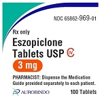 Eszopiclone Tabs 3mg #100 (exp 10/31/21)