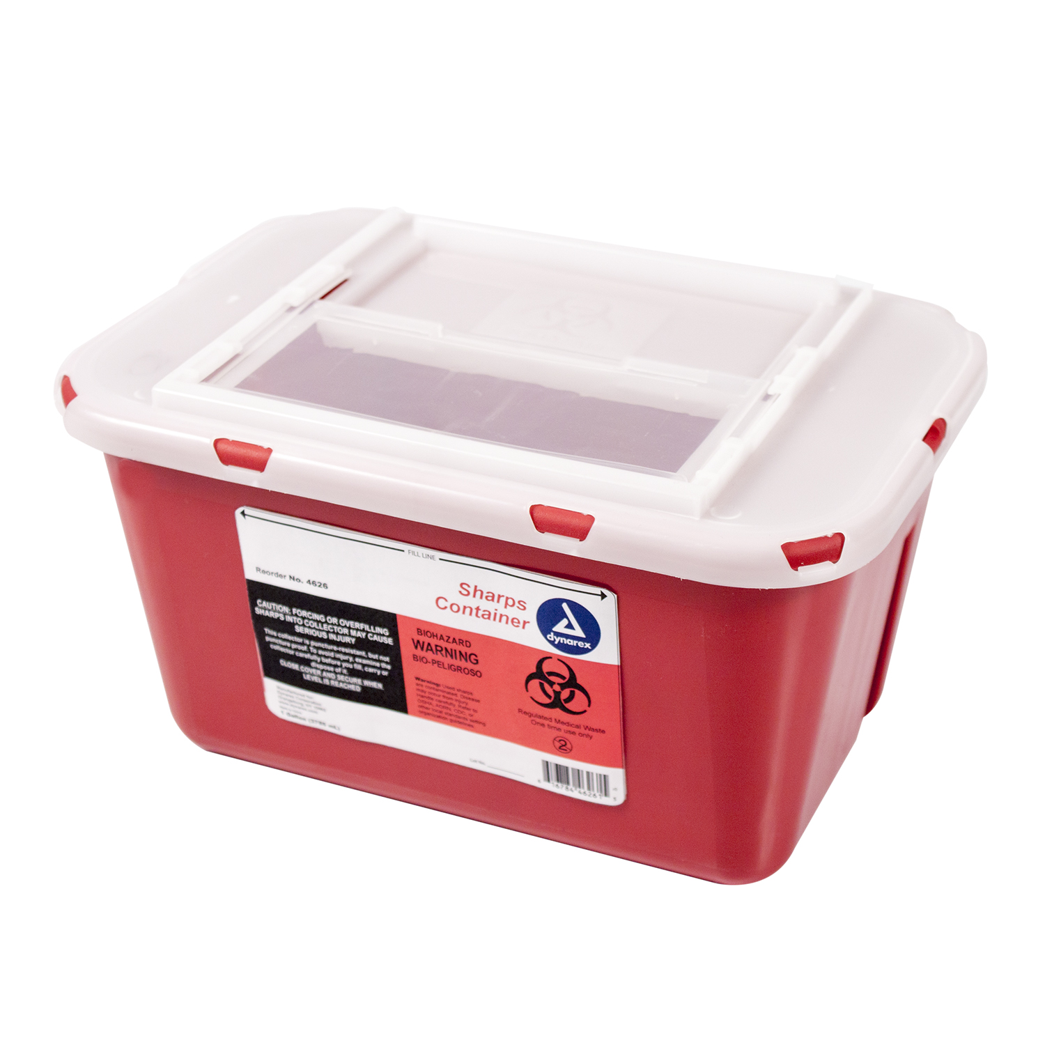 Sharps Container Slide Lid 4 Quart (1 Gallon)