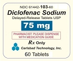 Diclofenac Sodium Delayed Release 75mg #60