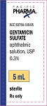 Gentamicin Sulfate Ophthalmic Solution 0.3%, USP 5mL