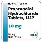 Propranolol HCl Tabs 10mg #1000