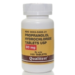 Propranolol HCl Tabs 80mg #100
