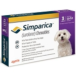 Simparica™ Chewable Tabs For Dogs 3 Doses Purple 5.6-11 lbs