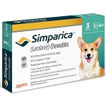 Simparica™ Chewable Tabs For Dogs Blue 22.1-44 lbs 3 Doses