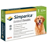 Simparica™ Chewable Tabs For Dogs 3 Doses Green 44 .1-88 lbs