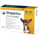Simparica™ Chewable Tabs For Dogs 6 Doses Gold 2.8-5.5 lbs