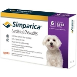 Simparica™ Chewable Tabs For Dogs 6 Doses Purple 5.6-11 lbs