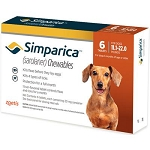 Simparica™ Chewable Tabs For Dogs Caramel 11.1-22 lbs 6 Doses