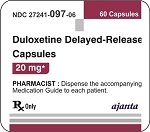 Duloxetine HCl Delayed Release Caps 20mg #60