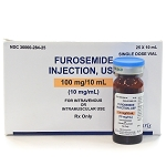 Furosemide Inj 10mg/mL 10mL Vial 25/box