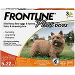 Frontline® Plus For Dogs Orange 5-22 lbs 3 Doses