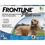 Frontline® Plus For Dogs Blue 23-44 lbs 3 Doses