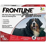 Frontline® Plus For Dogs Red 89-132 lbs 3 Doses