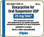 Doxycycline for Oral Suspension 25mg/5mL 60mL