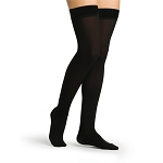 ACCESS Compression Socks for Women (Thigh - Open Toe / 20-30 mmHg / Black / Medium - Short)