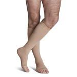 ACCESS Compression Socks for Unisex (Knee High - Open Toe / 20-30 mmHg / Crispa / Medium - Short)