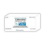 Lidocaine HCl Injection 1% Solution 50mg/5mL 10/pack