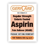 Enteric Coated Aspirin Tabs 325mg #100
