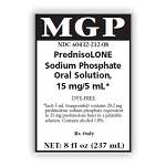 Prednisolone Sodium Phosphate Oral Solution 15mg/5mL 237mL