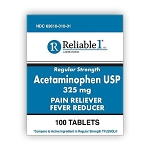 Acetaminophen Tabs 325mg #100