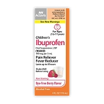 Ibuprofen Suspension for Children (Berry Flavor/DF) 100mg/5mL 4oz (exp 09/30/20)
