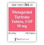 Metoprolol Tartrate Tabs 50mg #100