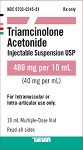 Triamcinolone Acetonide Injectable Suspension 40mg/mL 10mL