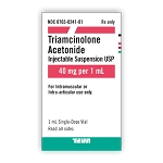 Triamcinolone Acetonide Injectable Suspension 40mg/mL 1mL (exp 10/31/21)