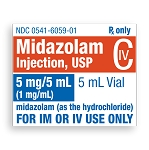 Midazolam Injection 5mg/mL 1mL 25/pack