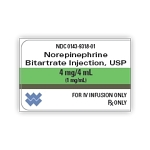 Norepinephrine Bitartrate Injection 1mg/mL 4mL