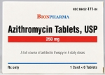 Azithromycin Tabs 250mg 6/blister pack