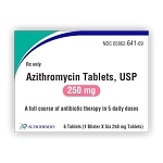 Azithromycin Tabs 250mg 1 X 6 (blister pack)
