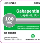 Gabapentin Caps 100mg #500 (exp: 10/31/20)