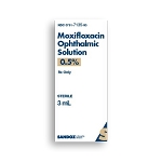 Moxifloxacin HCl Ophthalmic Solution 0.5% 3mL
