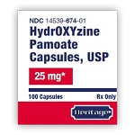 Hydroxyzine Pamoate Caps 25mg #100 (EXP 12/31/21)