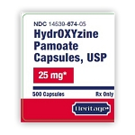 Hydroxyzine Pamoate Caps 25mg #500