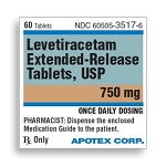 Levetiracetam Extended-Release Tabs 750mg #60