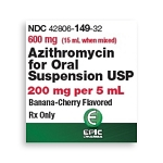 Azithromycin for Oral Suspension 200mg/5mL 15mL