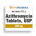 Azithromycin Tabs 500mg #9 (3 Cards of 3 Tabs)