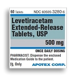 Levetiracetam Extended-Release Tabs 500mg #60
