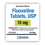 Fluoxetine HCl Tabs 10mg #30 (exp: 02/28/21)