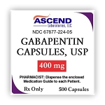 Gabapentin Caps 400mg #500