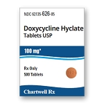 Doxycycline Hyclate Tabs 100 mg #500
