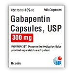Gabapentin Caps 300mg #500