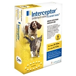 Interceptor® Flavor Tabs 6 Doses Yellow 26-50 lbs