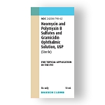 Neomycin and Polymyxin B Sulfates and Gramicidin Ophthalmic Solution 10mL (EXP 11/30/21)