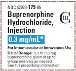 Buprenorphine HCl 0.3mg/mL 1mL 5/pack