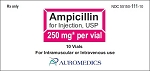 Ampicillin Inj Vial 250mg/10mL 10pk