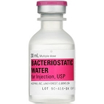 Bacteriostatic Water 30mL MDV 1/ea