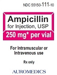 Ampicillin Inj 250mg/10mL Vial